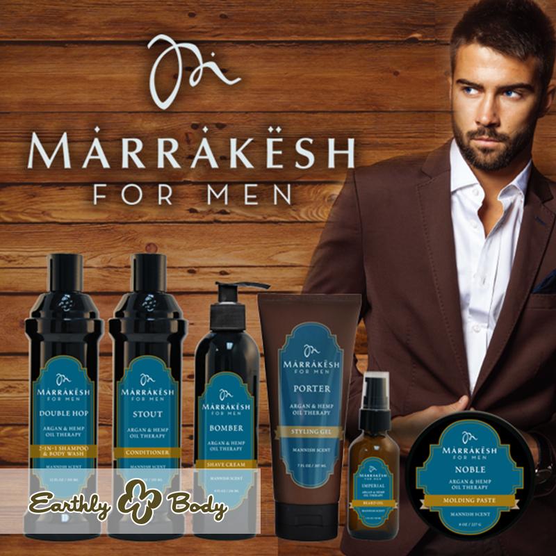California発 100%植物性 ヘンプシードオイルのスキンケア Earthly Body メンズ向けライン「MARRAKESH FOR MEN」